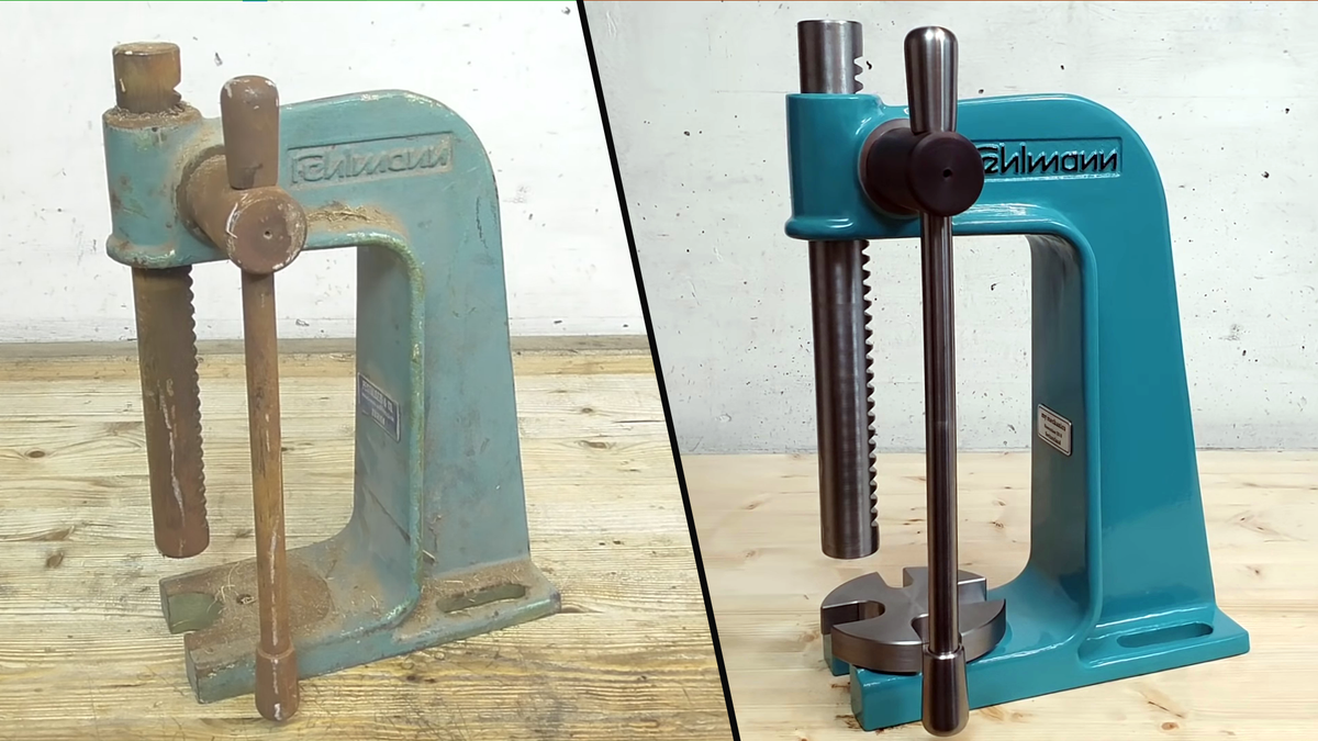 A machine before and after a full restoration on the 'my mechanics' YouTube channel