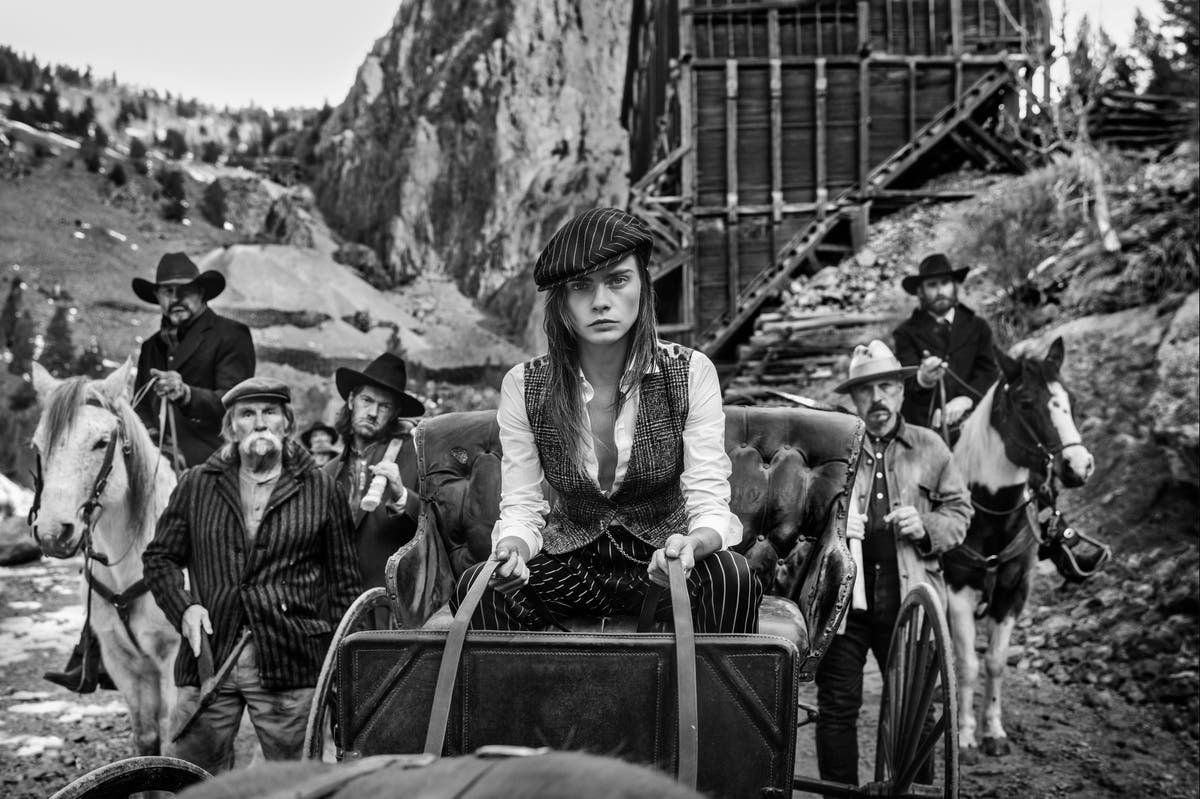 Yee-ha! Cowgirl Cara takes the reins on her Wild West wagon trail