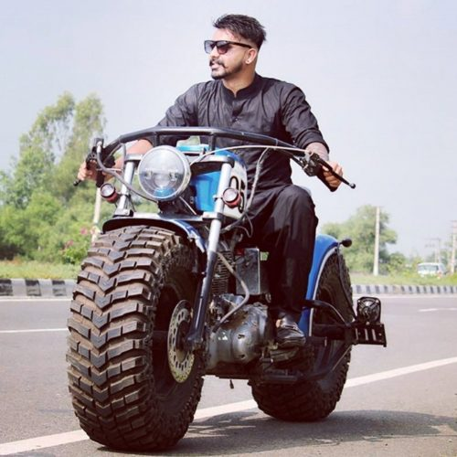 Royal Enfield modified tractor tyre 3
