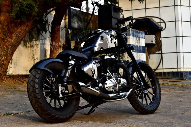 Viserion 350 modified Royal Enfield 4