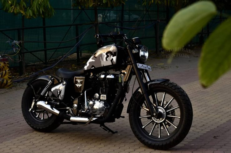 Viserion 350 modified Royal Enfield 3