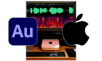 Adobe Audition running on an M1 Mac Mini.