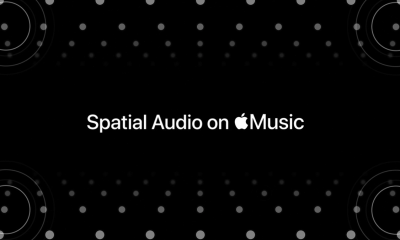 A banner from Apple Music's spacial audio announcement video.