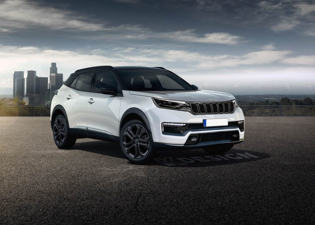 Jeep compact SUV rendering front