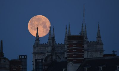 Incredible images captured of rare 'super flower blood moon'