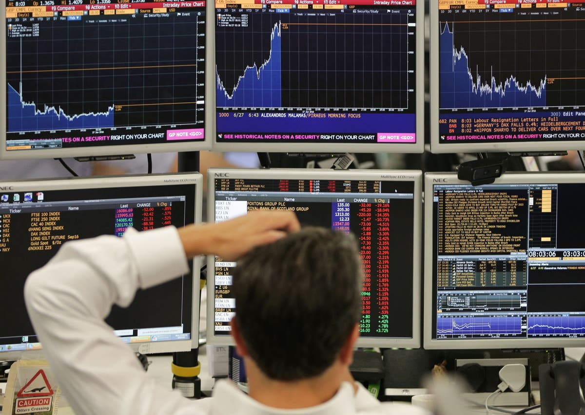 FTSE 100 falls 2.2% as inflation fears tech stock sell-off