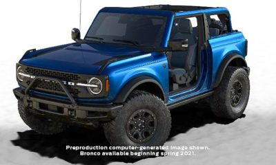 2021 Ford Bronco first edition lightning blue