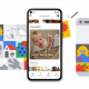 Illustrations of Google Photos new features.