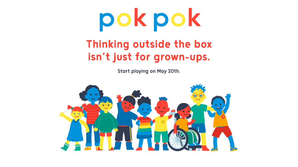 An illustration of Pok Pok Playroom announcing its release on May 20th.