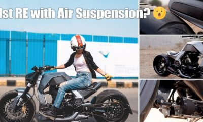 This Modified Futuristic Royal Enfield Chopper Has An Air Suspension