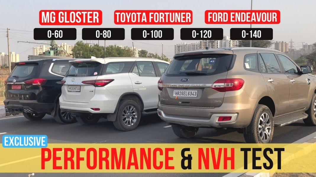 Toyota Fortuner vs Ford Endeavour vs MG Gloster