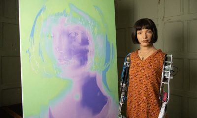 Ultra-realistic robot artist puts on self-portrait show at Design museum