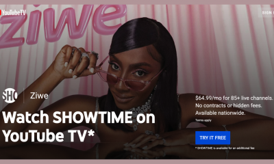 "The ""Showtime on YouTube TV"" banner"