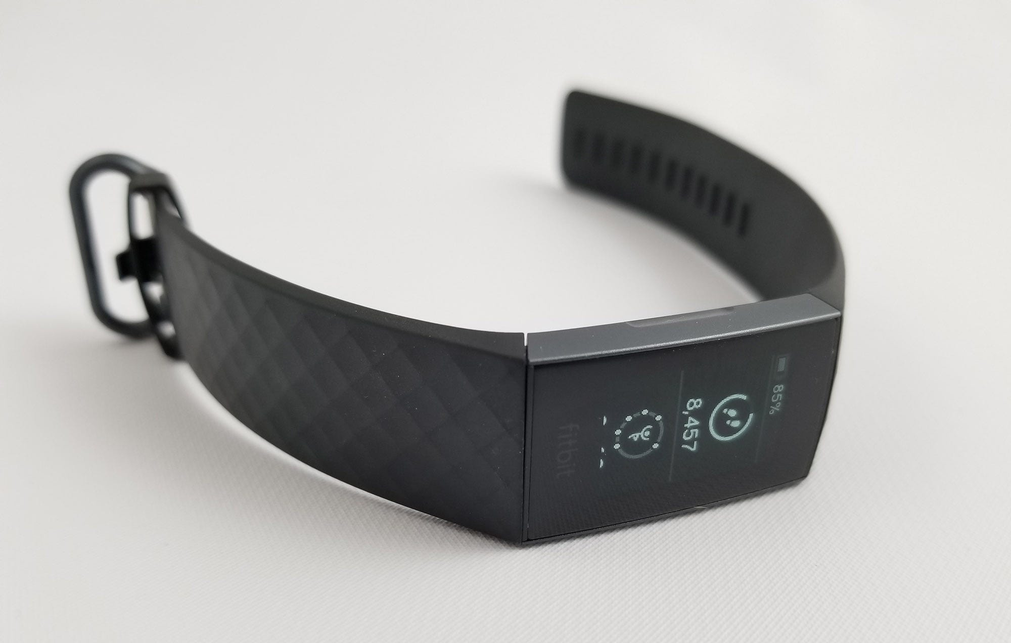 The Fitbit Charge 3 on a white background