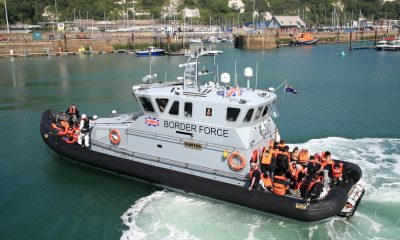 Border Force vessel brings migrants from French waters to UK