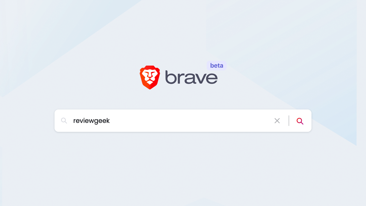 The Brave Search homepage.