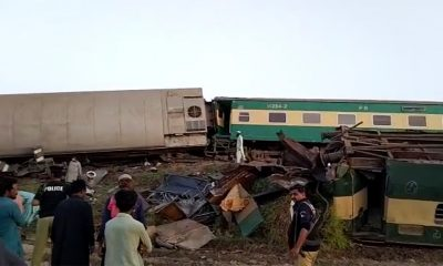 Dozens killed as express trains collide in Pakistan