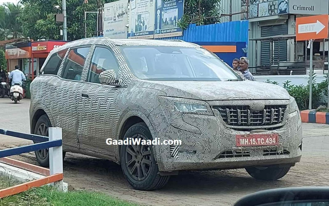 Upcoming Mahindra XUV700 Spied Again Ahead Of October Launch