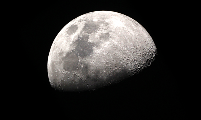 View of half of the moon