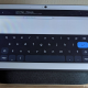 The Nest Hub with its on-screen browser keyboard