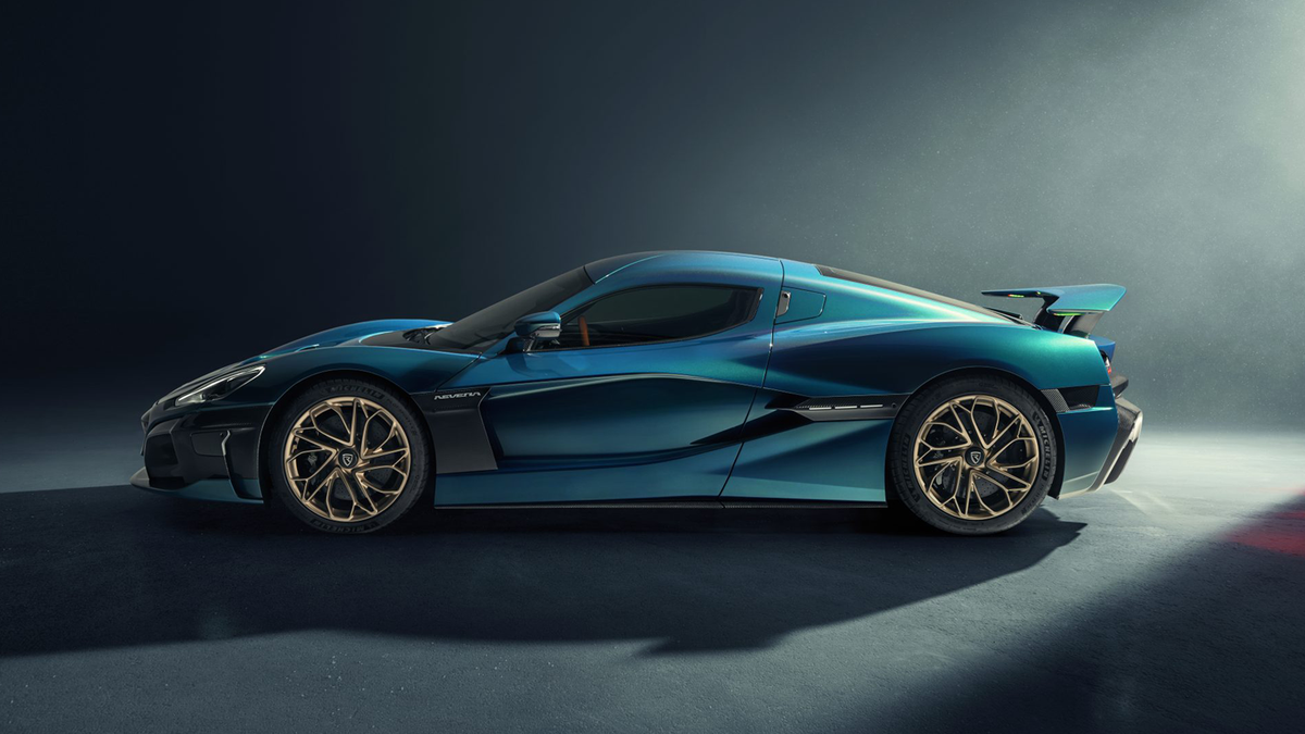Side view of the Rimac Nevera