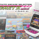 Taito Egret II Mini with logo and compatible games