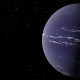 An artist's rendering of TOI-1231 b, a Neptune-like planet about 90 light years away from Earth