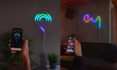 The Twinkly Flex lights controlled by smartphones.