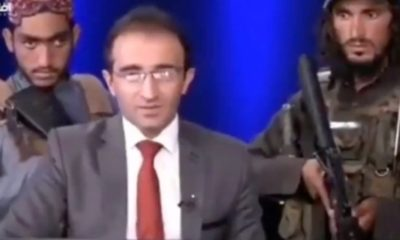 Armed Taliban fighters accost TV host during show