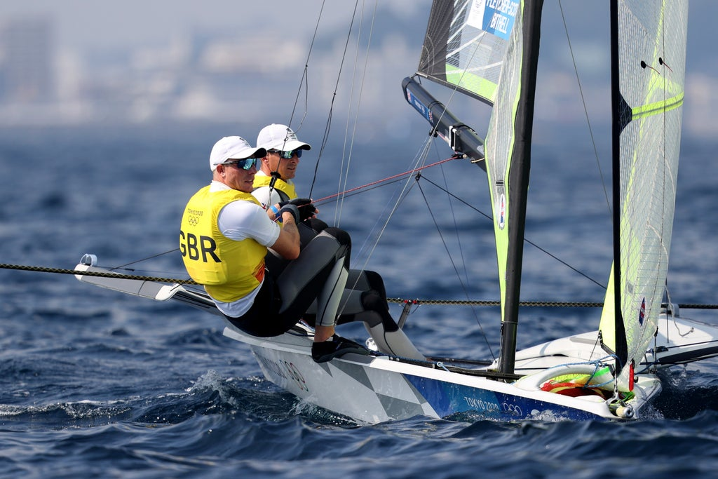 Sailors Dylan Fletcher and Stuart Bithell win Team GB's 12th Tokyo Olympics gold in men's 49er class