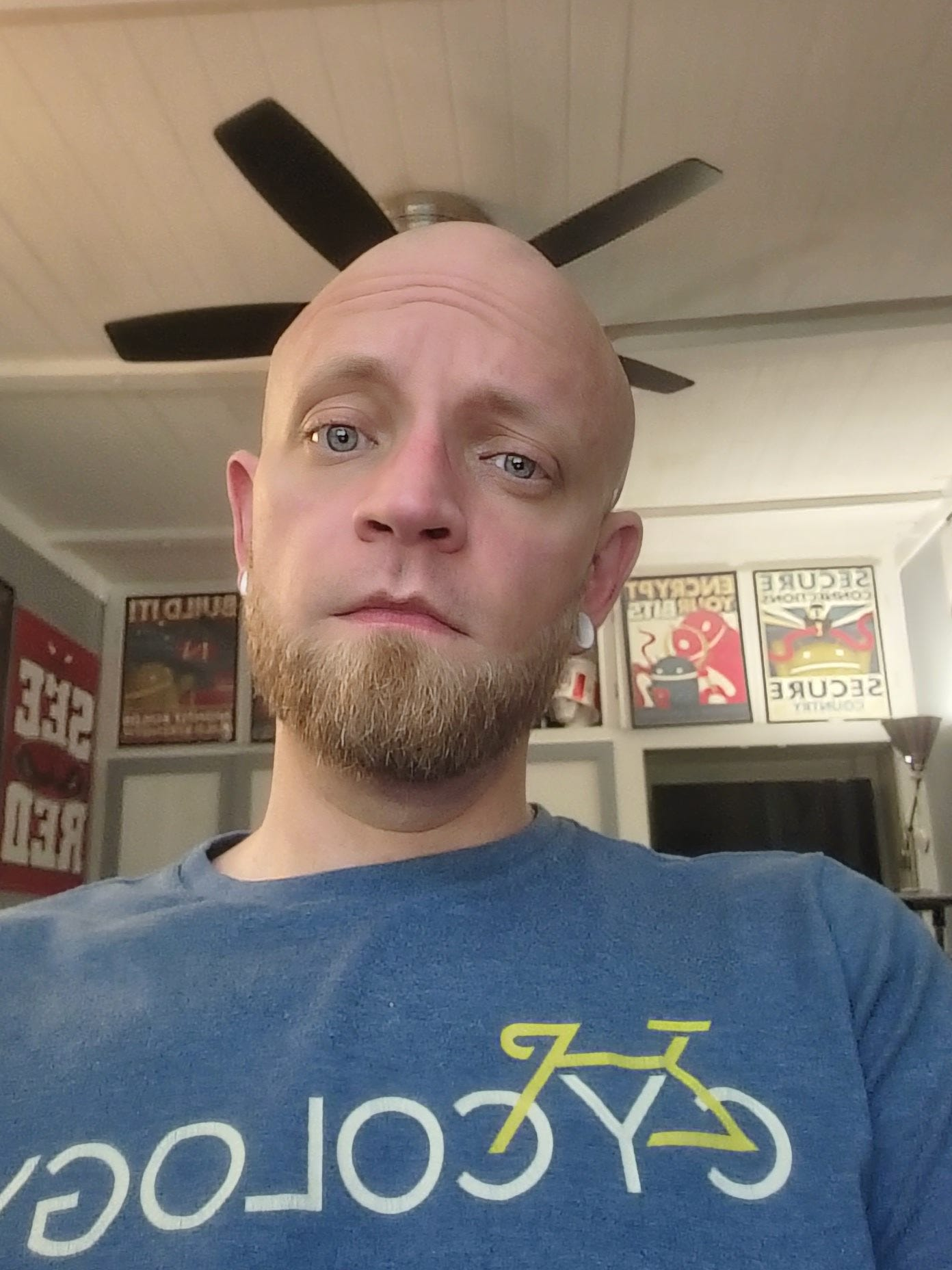 An indoor selfie with the under display camera. Super washed out and bad.
