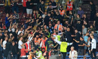 Burnley vs Arsenal: FA to investigate Turf Moor crowd trouble at end of Premier League game