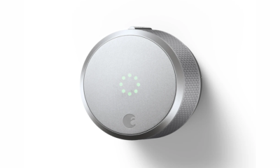 The August Smart Lock Pro on a white background