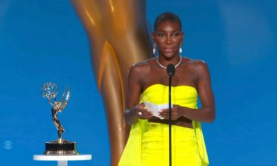 The Emmys: Michaela Coel delivers powerful acceptance speech