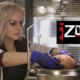 Liv weighing a brain in the morgue