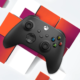 The Xbox controller on a Stadia background.